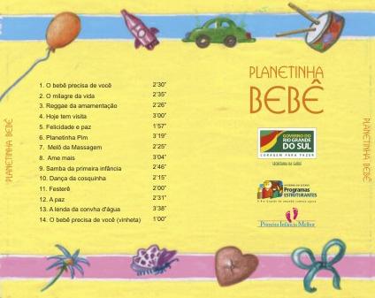 Planetinha Bebê - Verso