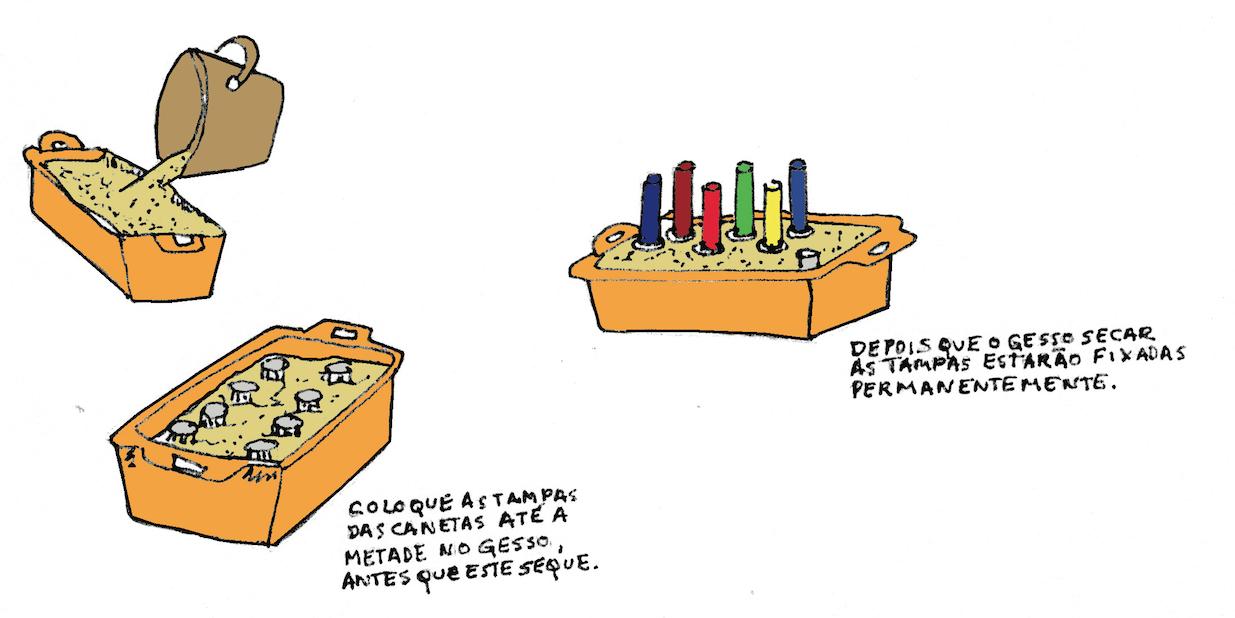 Suporte de canetas para crianças