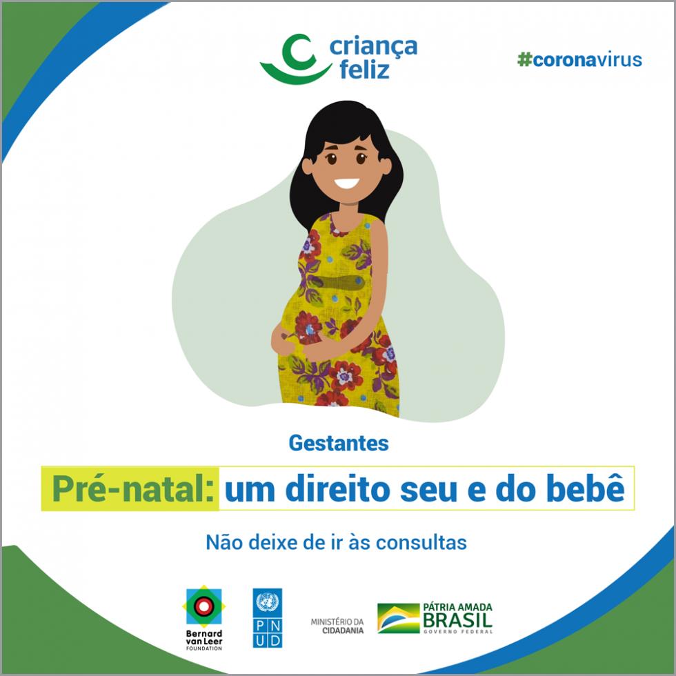 O pré-natal deve começar o mais cedo possível, antes do terceiro mês de gravidez, e incluir, no mínimo, sete consultas. Não deixe de fazer os exames e tomar as vacinas. É importante para a sua saúde e a do seu nenê.