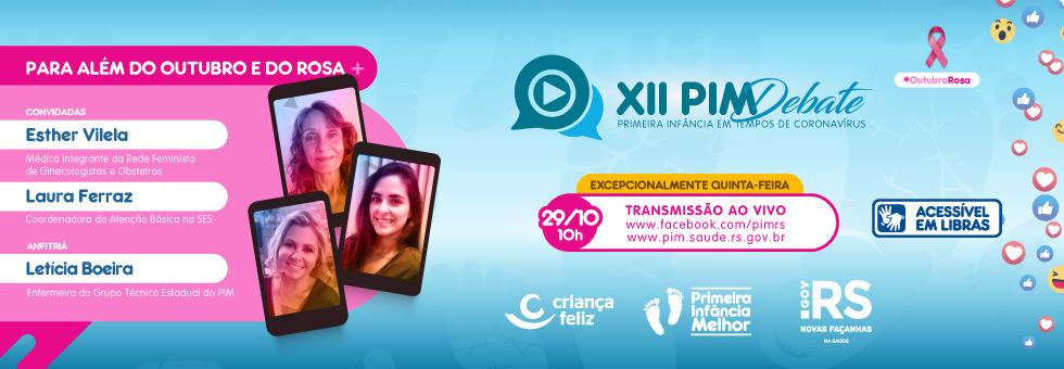 #OutubroRosa é tema do XII PIM Debate