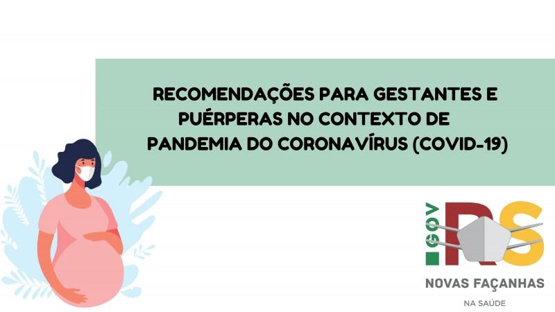 Cartilhas online orientam cuidados com gestantes durante o acirramento da pandemia de covid-19