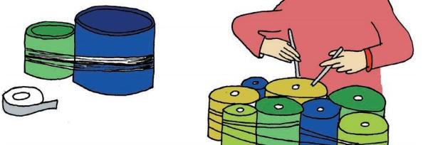 Marimba de latas
