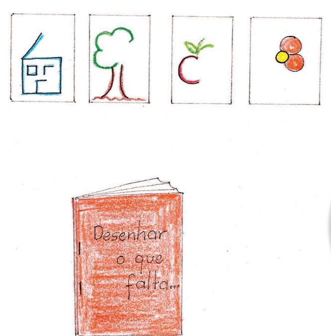 Livro desenhar o que falta
