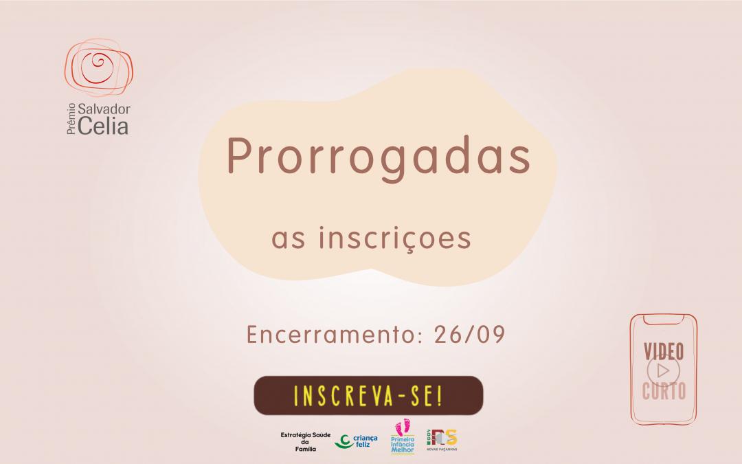 Inscrições do 11º Prêmio Salvador Celia são prorrogadas até o dia 26/09